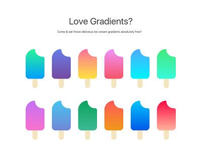 Sketch Gradients [Freebie] colours colors ui gradients app sketch iphone ipad ios android gradients gradient freebie