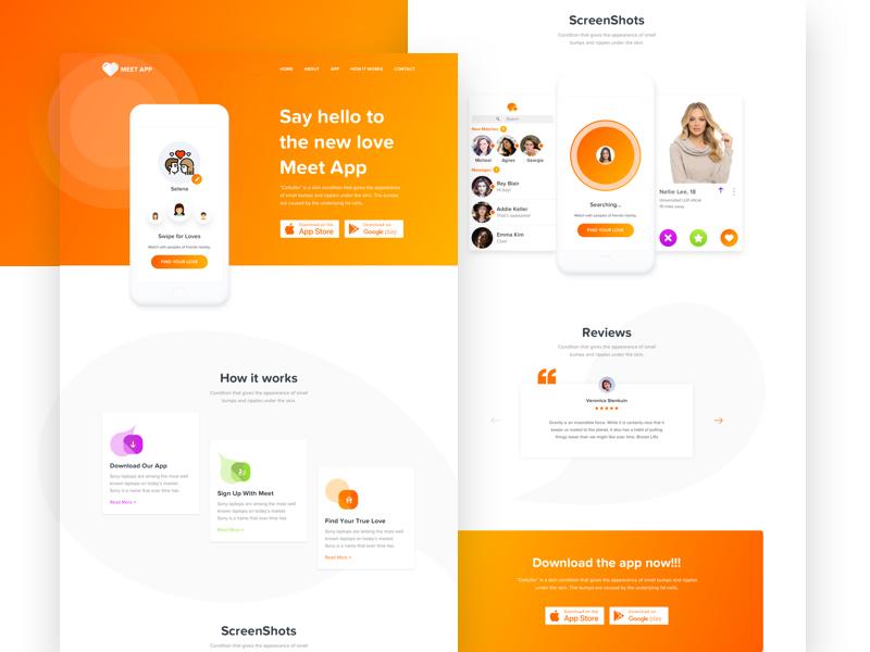 App Landing Page Concept