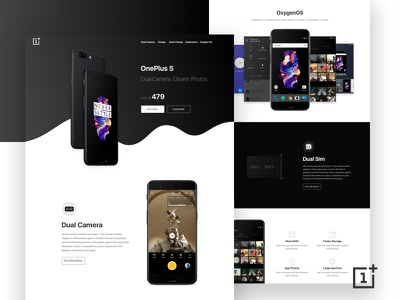 OnePlus 5 Landing Page Concept website web ux ui color new clean product landingpage oneplus5 oneplus
