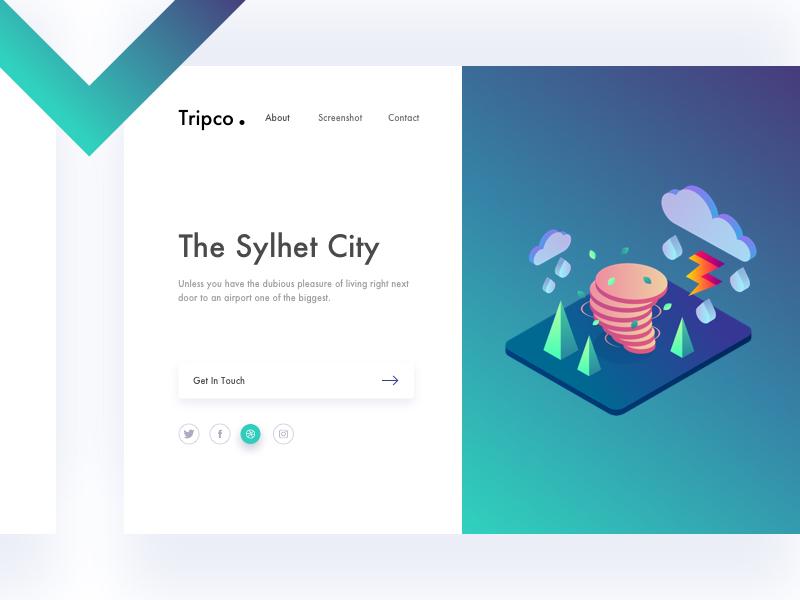Tripco. Header Exploration exploration website ui webdesign split presentation mockup minimal landing page gradients