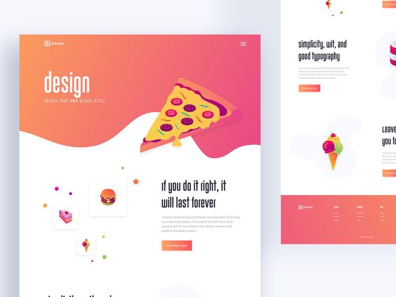 Colours Web Exploration ux ui typography template new trend gradient google gmail design creative color bubble