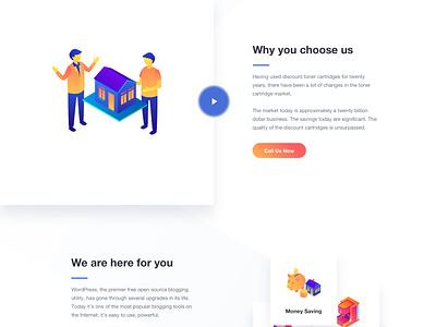 Landing Page - Design 2018 website web design ux user experience ui clean gradient landing page
