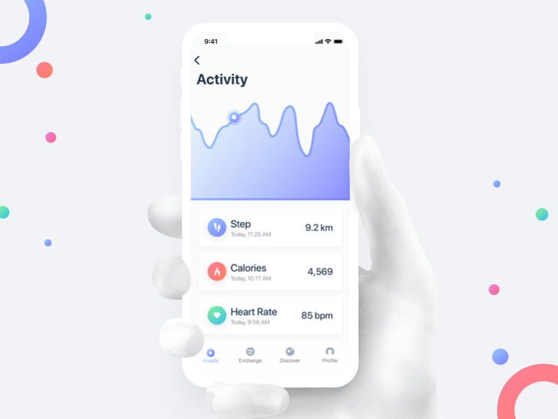 Fitness App UI ux ui minimal ios healthy health fitness diet design clean iphonex