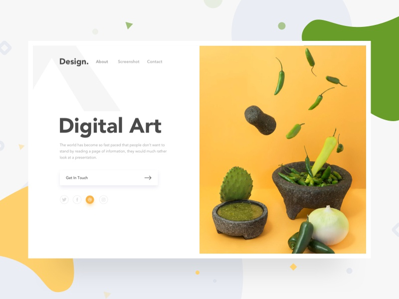 Split Header Design - Landing Page gradient minimal colorful landing page webdesign uidesign split web design split fold