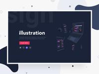 Split Header Design - Landing Page