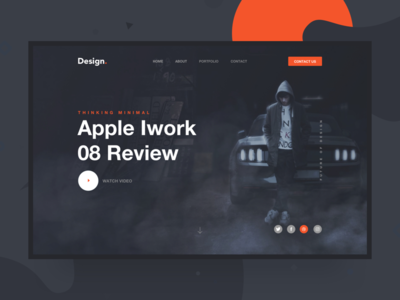 Split Header Design - Landing Page