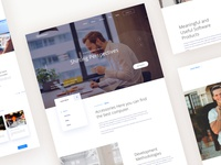Homepage Design for a Software Company