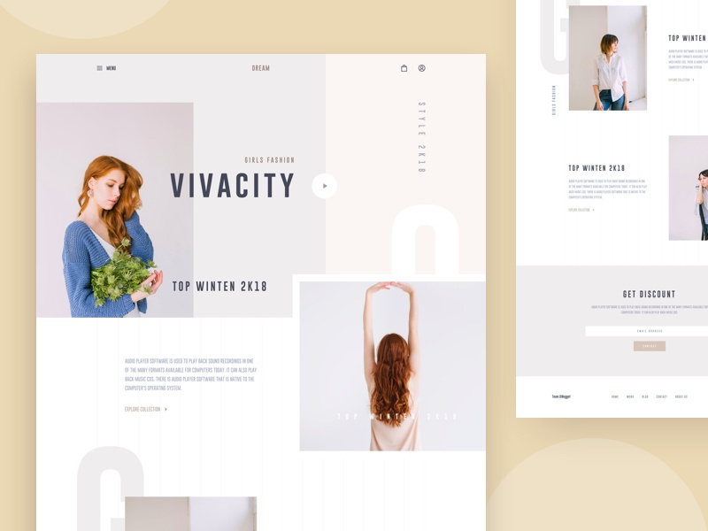 Fashion Ecommerce UI header photography ux website layout landing minimal ui ecommerce fashion