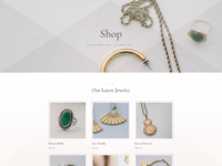 Jeweler shop page