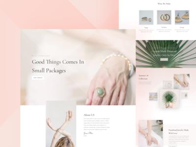 Jeweler Website Template Design for Divi