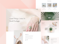 Jeweler Website Template Design for Divi