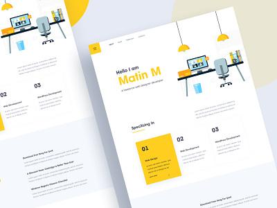 Portfolio UI Vol III personal portfolio ui resume cv hiring template app landing hire