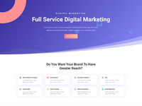 Digital marketing home page