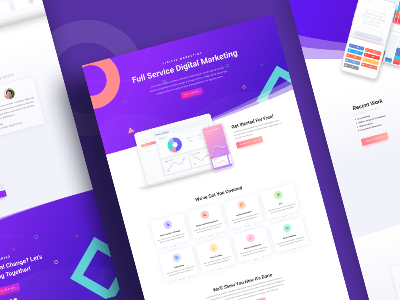 Digital Marketing Agency Website Template Design for Divi agency marketing digital divi wordpress landing layout template website