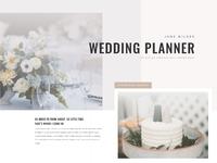Wedding planner landing page