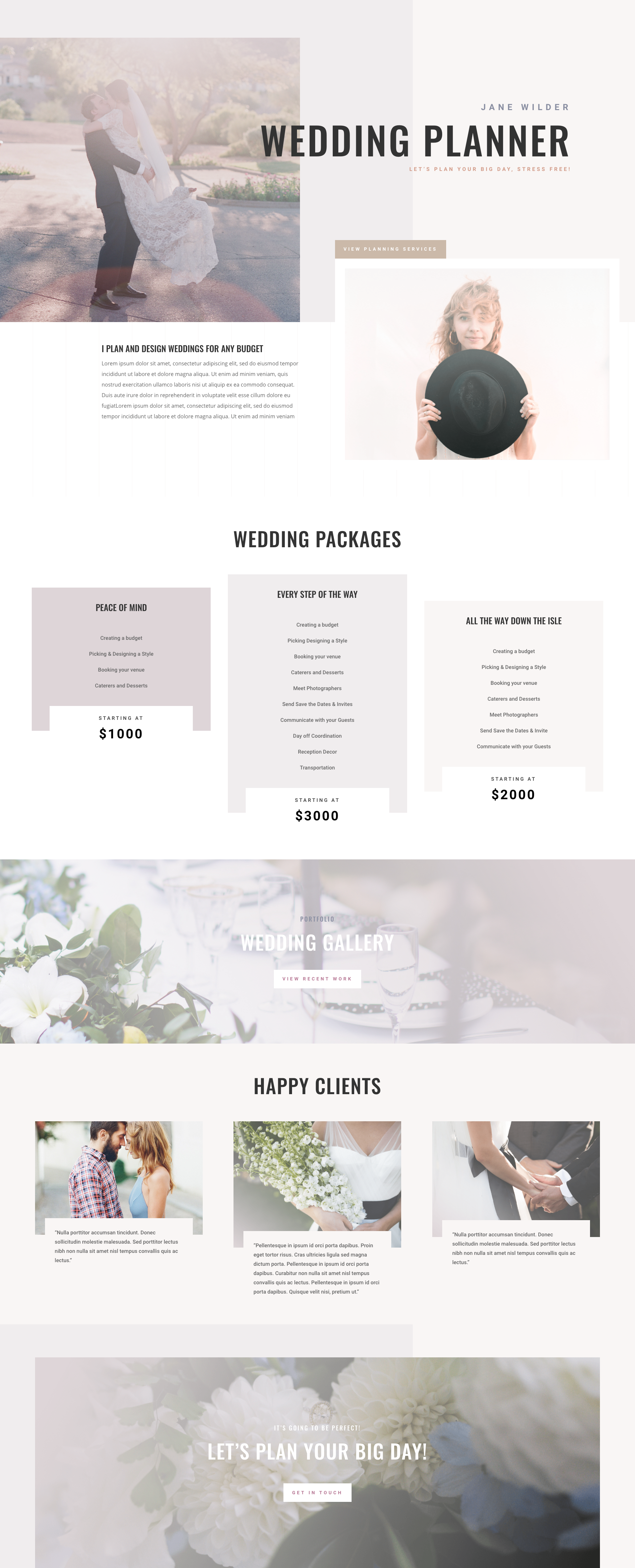 dribbble wedding planner home page png by ishtiaq khan parag