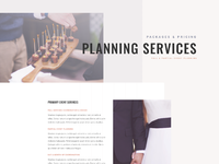 Wedding planner services page