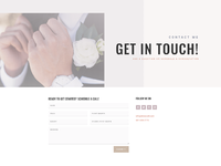 Wedding planner contact page
