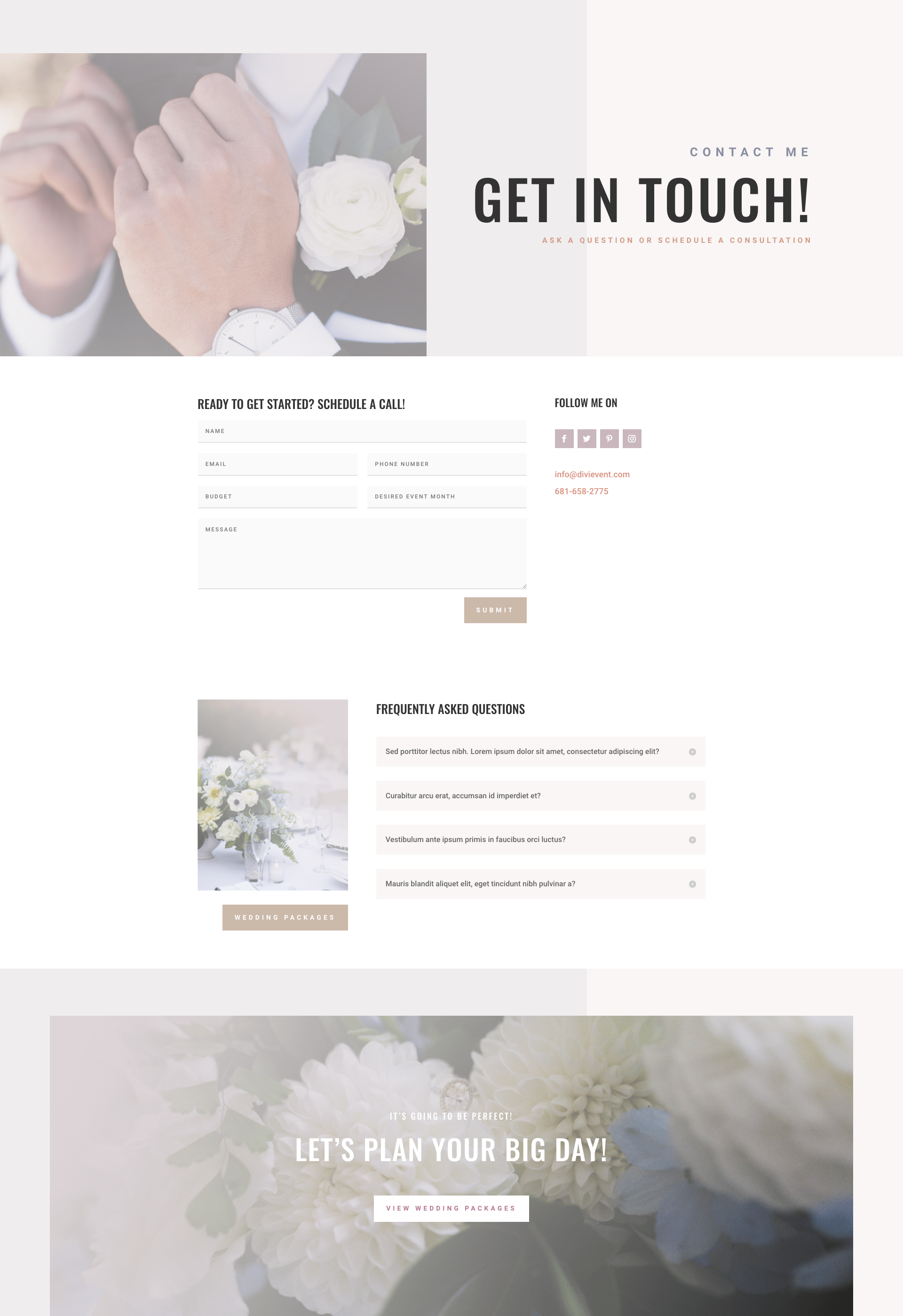 dribbble wedding planner contact page png by ishtiaq khan parag