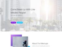 Meetup landing page