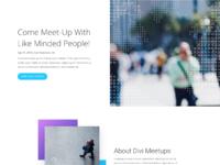 Meetup home page