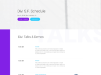 Meetup schedule page
