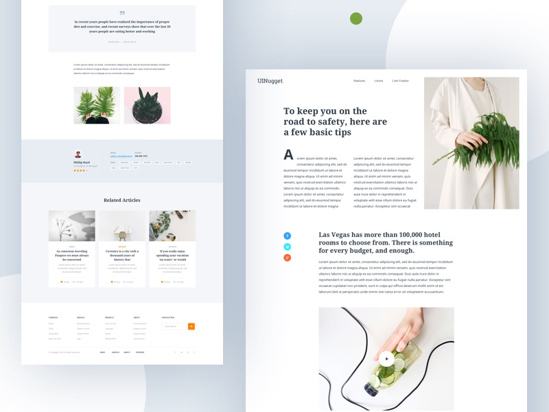 Blog Article Explore II uinugget blog article typography minimal 2018 clean photo post dribbble