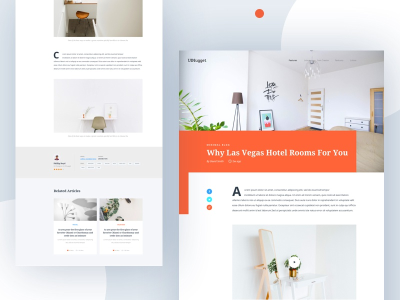 Blog Article Explore III dribbble post photo clean 2018 minimal typography article blog uinugget