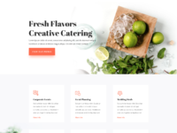 Food catering home page