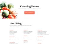 Food catering menus page