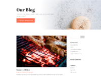 Food catering blog page