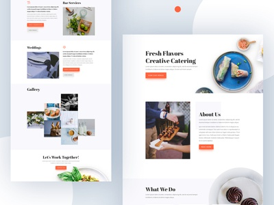 Food Catering Template Design for Divi