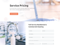 Cleaning company pricing page
