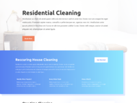 Cleaning company service page