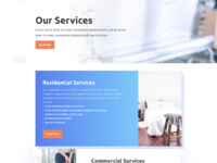 Cleaning company services page