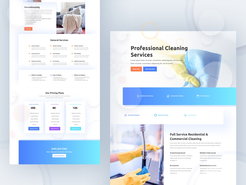 Cleaning Company Template Design For Divi By Ishtiaq Khan Parag