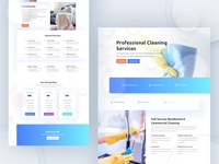 Cleaning Company Template Design for Divi