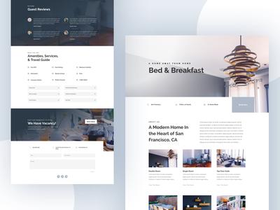 Bed and Breakfast - Sneak Peek food house hotel minimal bed and breakfast website layout template divi wordpress