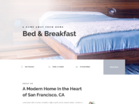 Bed and breakfast landing page