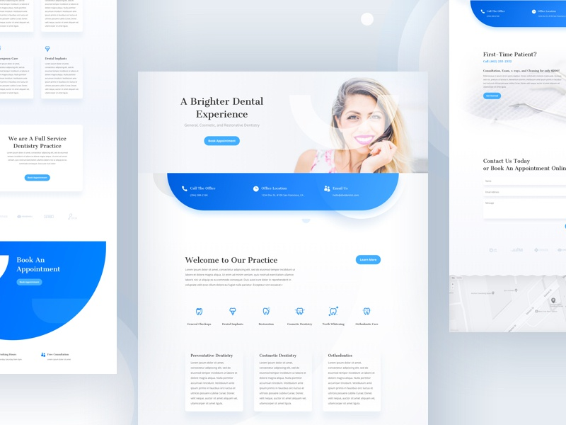 dentist template design for divi by ishtiaq khan parag dribbble