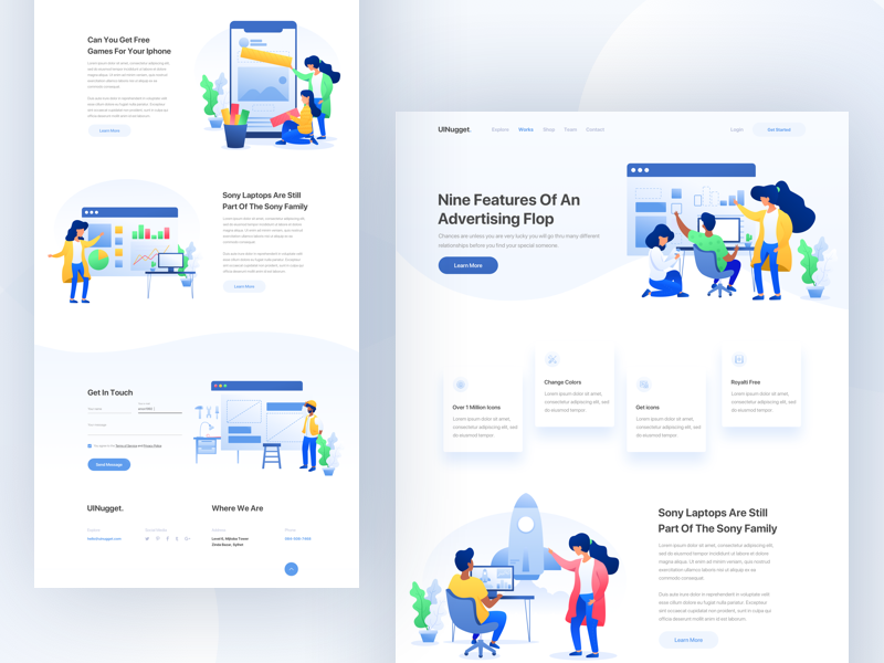 Design Agency II agency clean homepage design minimal ui ux website illustration landing page layout webdesign typography uinugget teamuinugget gradient 2018 dribbble best shot product icon