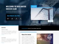 Soccer club landing page