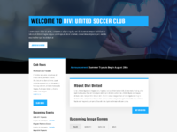 Soccer club home page