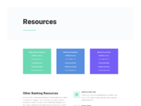 Bank resources page