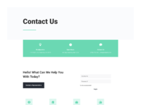 Bank contact page