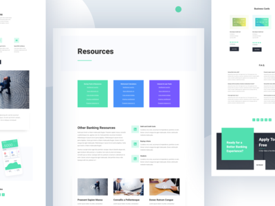 Bank Template Design for Divi