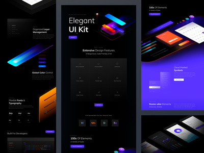 UI Kit Landing Page stats charts statistics ux ui kit style guide slider pattern library component kit illustrations layout product landing page landing website ui template wordpress sale