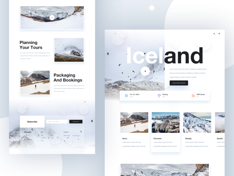 Travel Landing for 2019 vacation webdesign typography trending 2019 layout template minimal landing page ux ui website booking form travelblog destination travel flight color clean booking