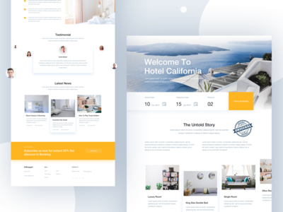 Minimal Hotel Landing for 2019