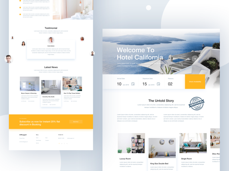 Minimal Hotel Landing for 2019 data visualization dashboard product hotel app landing hotel booking creative clean typography webdesign layout landing page booking.com booking ux ui website airbnb hotel minimal